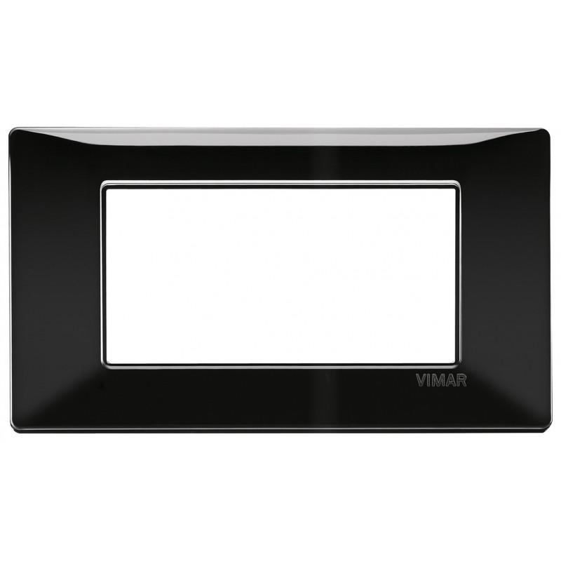 Vimar Plana placca 4 moduli colore nero 14654.05