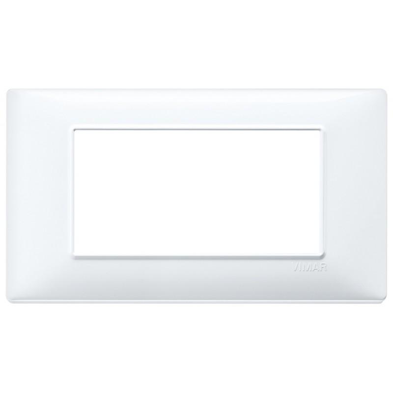 Vimar Plana placca 4 moduli colore bianco 14654.01