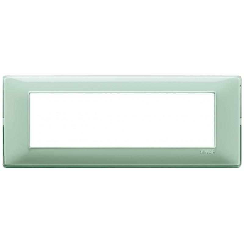 Vimar Plana placca 7 moduli colore reflex menta 14657.44