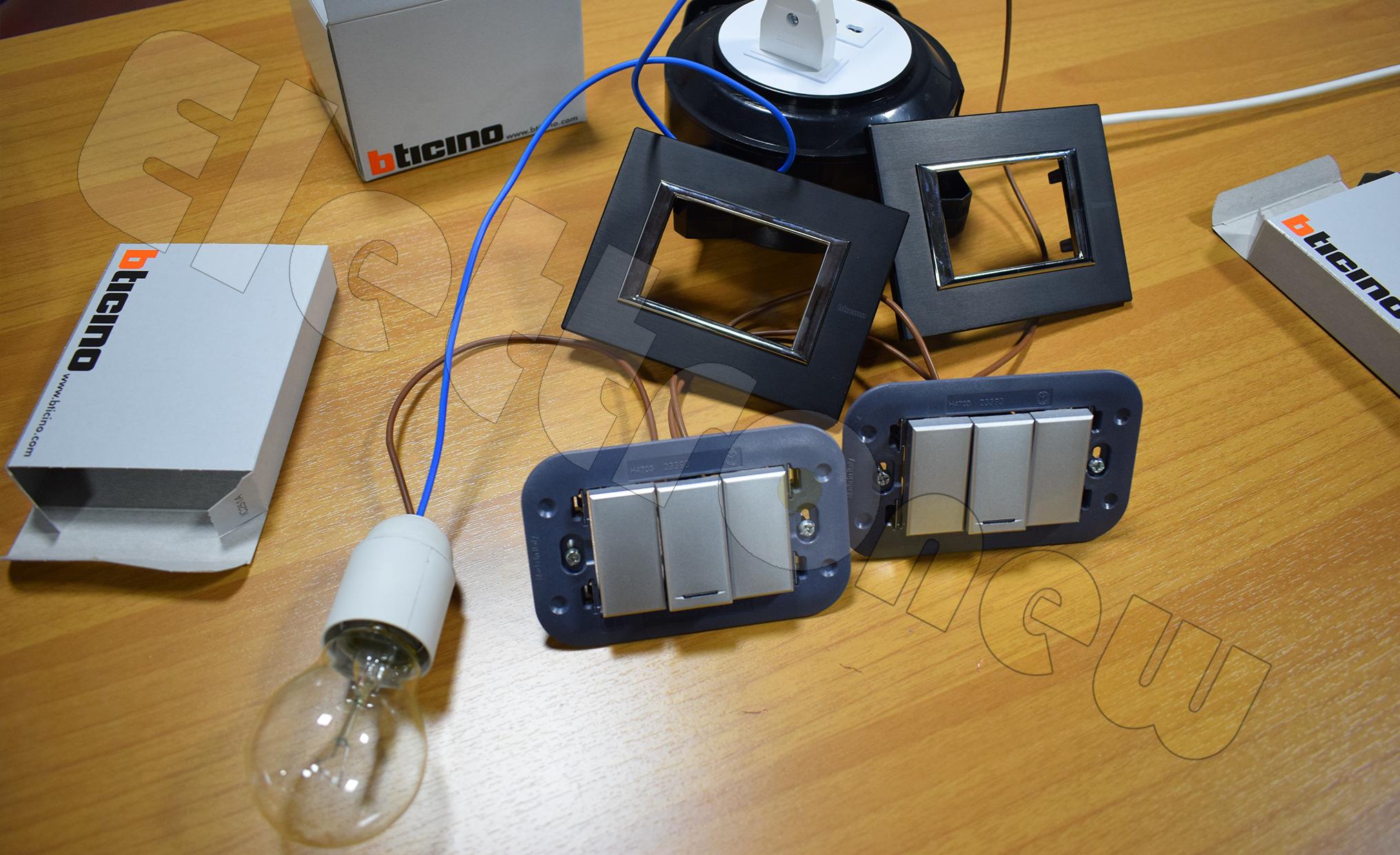 Schema Elettrico Per 4 Punti Luce : Come accendere una lampada da due punti con deviatore