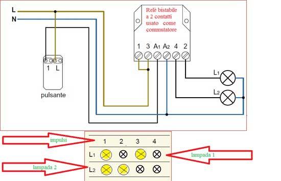 Schema Elettrico Lampadario Doppia Accensione : Rele commutatore g guide tutorial e tutto sul