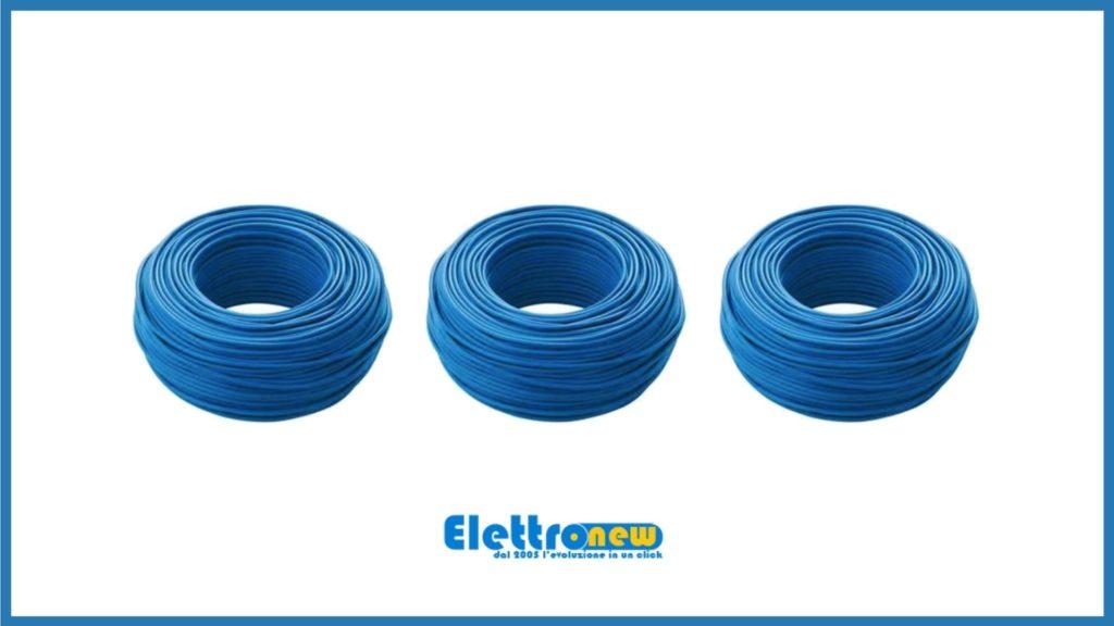 Cavi elettrici blu